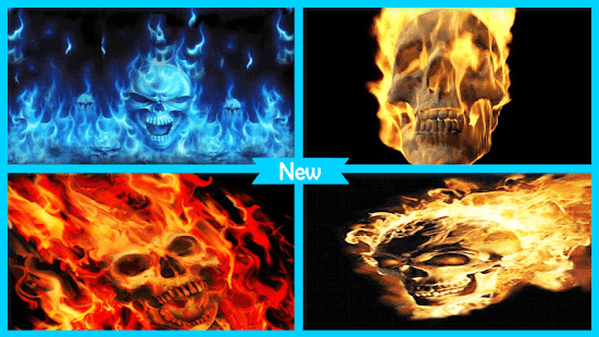 Fiery Skull Live Wallpaper - náhled