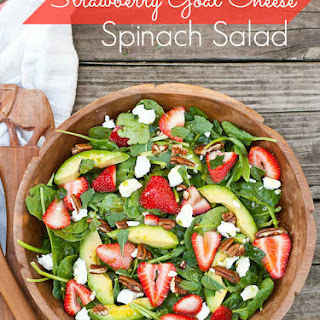 Strawberry, Avocado, and Goat Cheese Spinach Salad