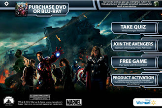 Photo: Before we headed to Walmart to get the new Avengers DVD Combo, we downloaded the Avengers Augmented Reality App on our phones and tablet.
