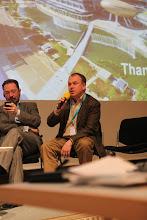 "Photo: Evgeny Kuznetsov, Stanislav Naumov - final panel discussion - ""Communicating Science & Innovations""- 2012"