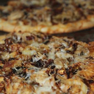 BBQ Chicken Naan Pizza.