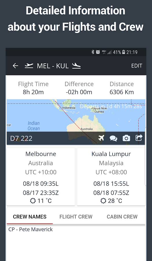 RosterBuster - flight and cabin crew roster app- screenshot