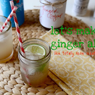 Homemade Ginger Syrup for ginger ale.