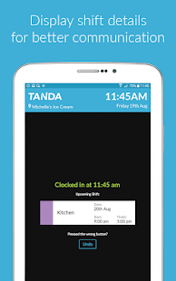 Time Clock by Tanda- screenshot thumbnail