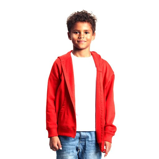 Neutral Brand Organic Kids Hoodie with Zip