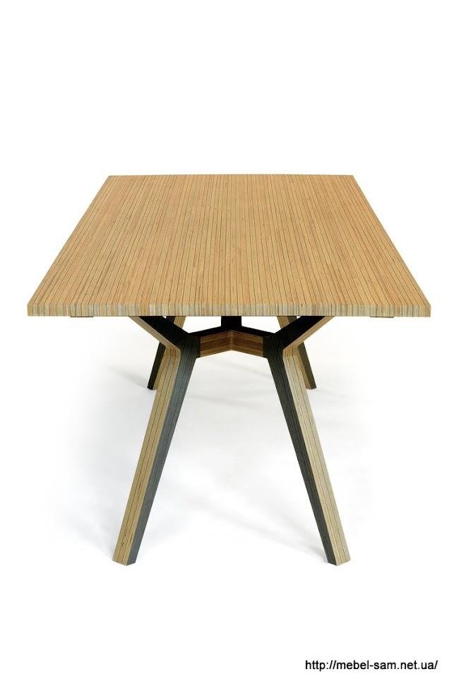 Стол из фанеры - вид с торца