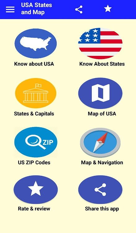 US States info & Capitals : Map of US – (Android Apps) — AppAgg