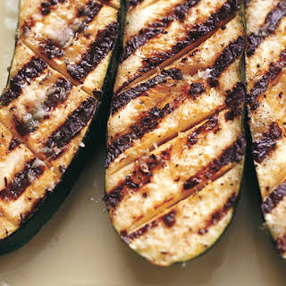 Grilled Zucchini with Garlic and Lemon Butter Baste.