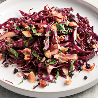 Red Cabbage Salad with Warm Pancetta-Balsamic Dressing.
