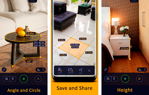 Screenshot 2 AR Ruler App – Tape Measure & Cam To Plan 1.3.0 APK PAID