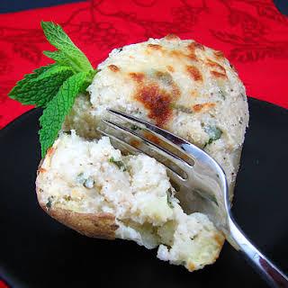 Twice Baked Indian Stuffed Potatoes.