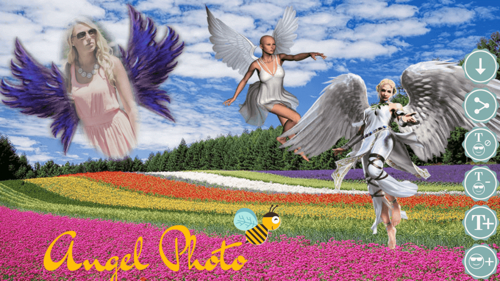 angel wings photo frames screenshot