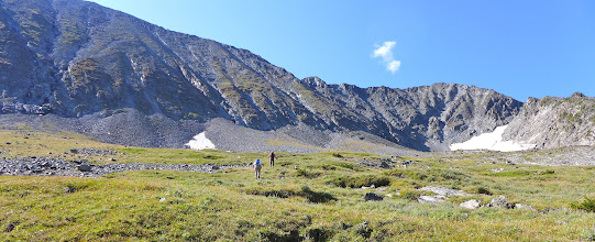 Photo: Approaching the west ridge of Crazy Peak