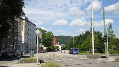 Photo: Die Feuerwache Mitte vom Buschey-Straßendreieck (Bergischer Ring / Buscheystraße) aus gesehen.