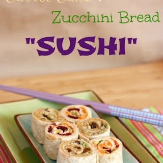 "Carrot Cake & Zucchini Bread ""Sushi"""