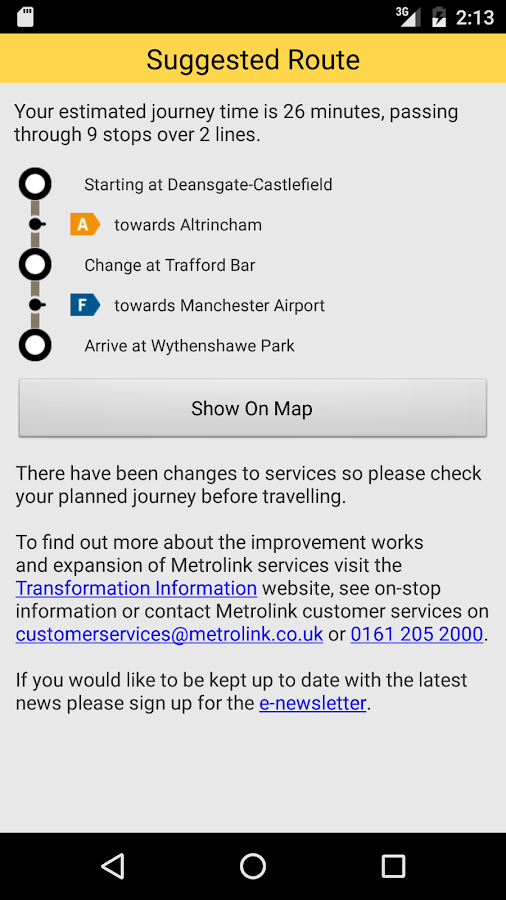 Manchester Metrolink Android Apps On Google Play