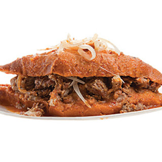"Torta Ahogada (Mexican ""Drowned"" Sandwich)"