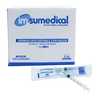 jeringa desechable imsumedical 3cc 21g x 1 1/2""
