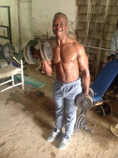KEEPING IT NATURAL: Champion bodybuilder Vusumzi 'Mango' Nkence has reached the top of his game through hours of sweat in a rickety township gym Picture: DAVID MACGREGOR