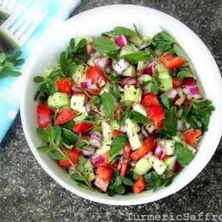 Salade Khorfeh - Shirazi Style Purslane Salad
