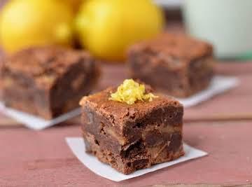 Fudgy Lemon Curd Brownies