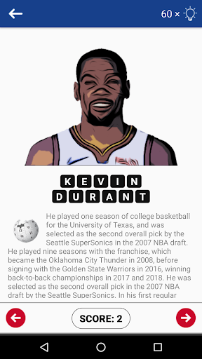 Code Triche Guess The NBA Player Quiz APK MOD (Astuce) screenshots 5