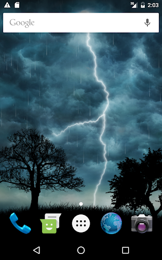 Live Storm Free Wallpaper Screenshot