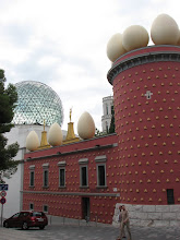 Photo: The Dali Museum in Figueres which Dali designed and worked and lived during his last 15 years of life.