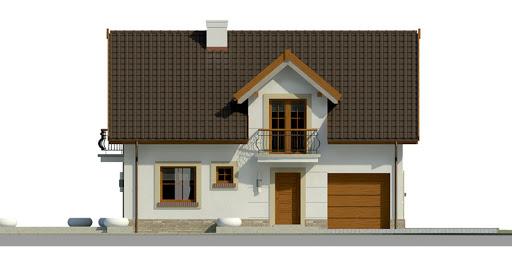 Dom przy Alabastrowej 21 - Elewacja przednia