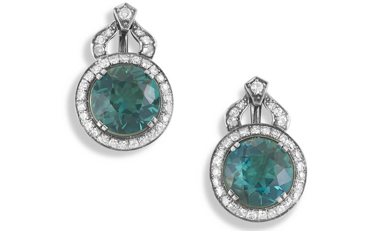 Namibian green tourmalines, sold in 2020.