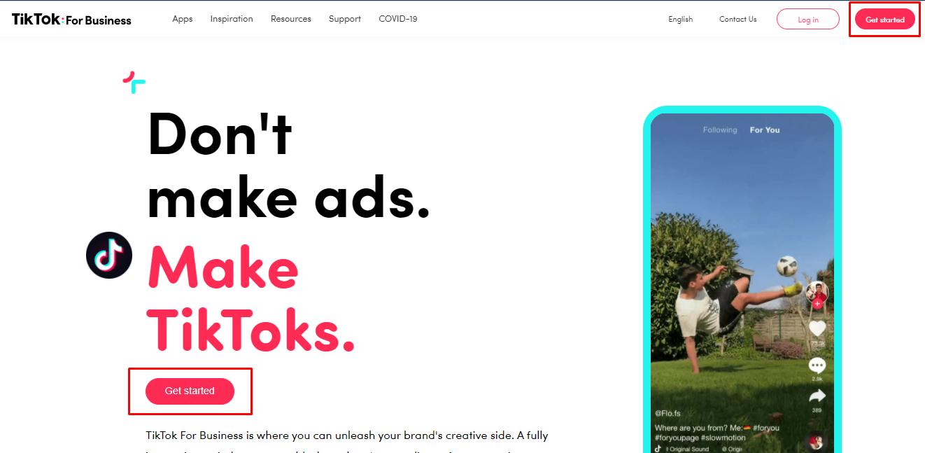 bisnis online TikTok ads