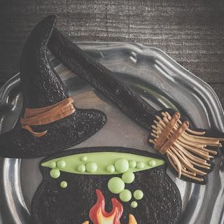 Black Cocoa Cookies With An Egg Yolk Glaze