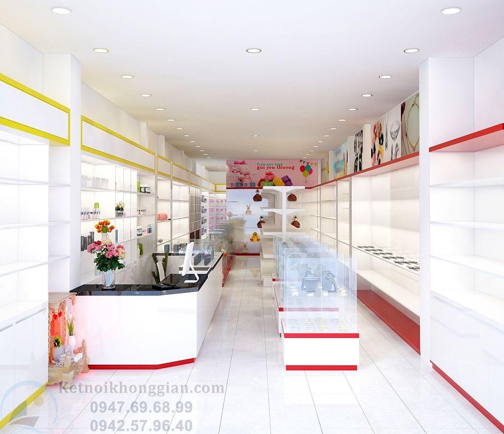 thiết kế cửa hàng tạp hóa trẻ trung, ấn tượng