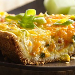 Ham, Pineapple and Cheddar Quiche.
