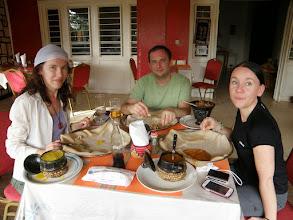 Photo: Enjoying injera!