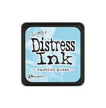 Tim Holtz Distress Mini Ink Pad - Tumbled Glass