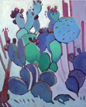 Photo: Nopales, oil on canvas by Nancy Roberts, copyright 2014. Private collection.