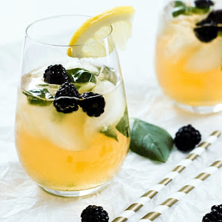 Blackberry and Basil Iced Green Tea
