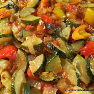 Baked Zucchini, Pepper, Onion, Garlic in Tomato Sauce; Firin Sebze.