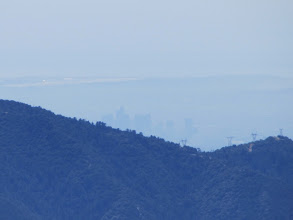 Photo: Oh, there's L.A., peeking out from behind Monrovia Peak.