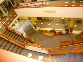 Photo: Stratton Student Center - main staircase