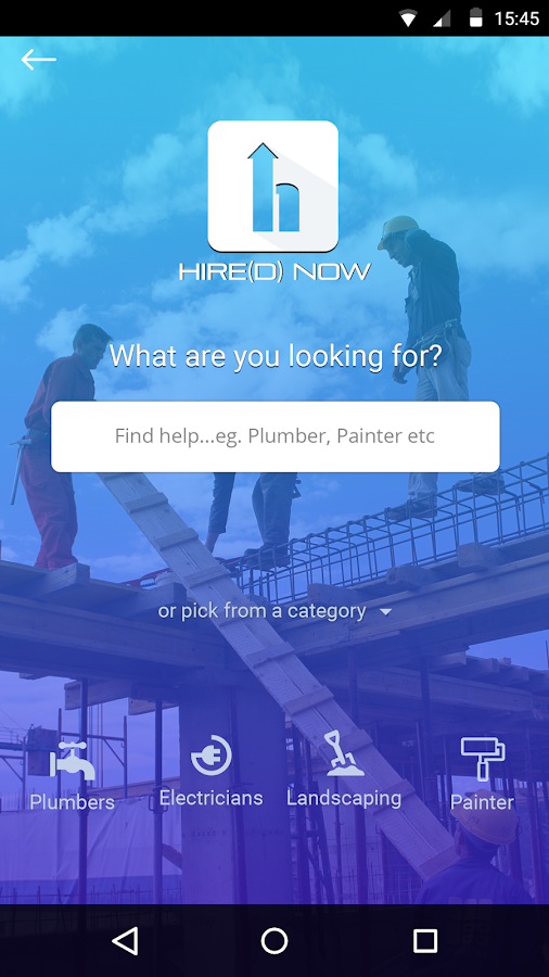 HIRE(D)NOW- screenshot