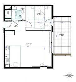 Appartement 2 pièces 52,97 m2