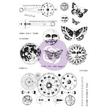Prima Art Daily Planner Cling Stamps - Dream Without Fear