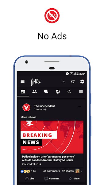 Download APK: Fella for Facebook v2.2.2 [Patched]