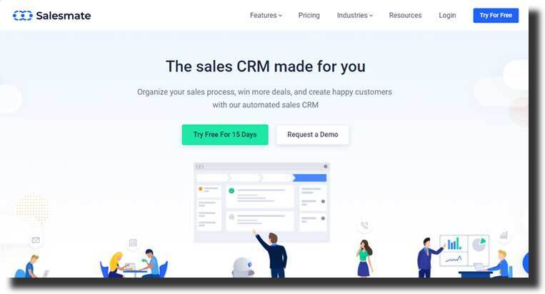 Salesmate website design