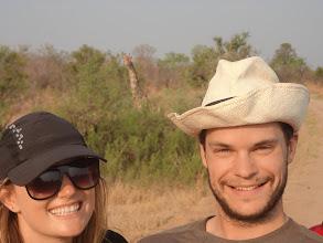 Photo: Us again with the super cute giraffe