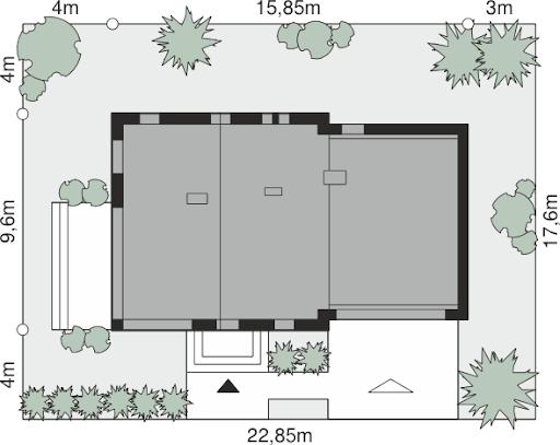 Dom przy Cyprysowej 15 S3 - Sytuacja