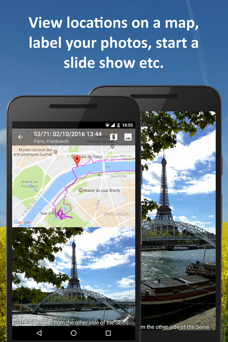 PhotoMap Gallery - Photos, Videos and Trips Screenshot 1