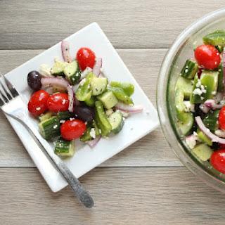 Easy Greek Salad in Under 5 Minutes